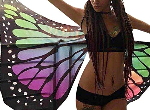 BYBU Womens Butterfly Wings Raves Costumes Festivals 3 OS (Butterfly Costumes For Women)