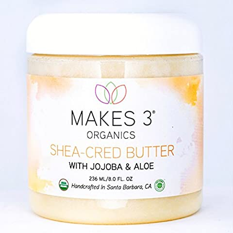 Shea Body Butter Organic Cream - Shea-Cred Sacred Creation Transforms Your Skin Into A Silky Hydrated Celebration, Filled With Antioxidants That Help Protect & Moisturize Skin, Brings It Back To (Resurrection Aromatique Hand Balm)