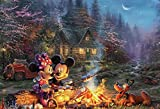 Book cover from Thomas Kinkade - Disney Mickey & Minnie Sweetheart Fire Puzzle - 750 Pieces by Thomas Kinkade