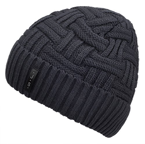 Spikerking+Mens+Winter+Knitting+Wool+Warm+Hat+Daily+Slouchy+Beanie+Skull+Cap%2CGrey