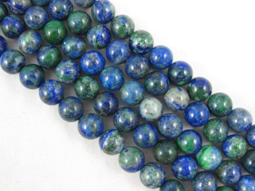 BRCbeads Chrysocolla Natural Gemstone Round 8mm 15.5 Inch 47pcs Green/Blue Color Beads for Jewelry Making