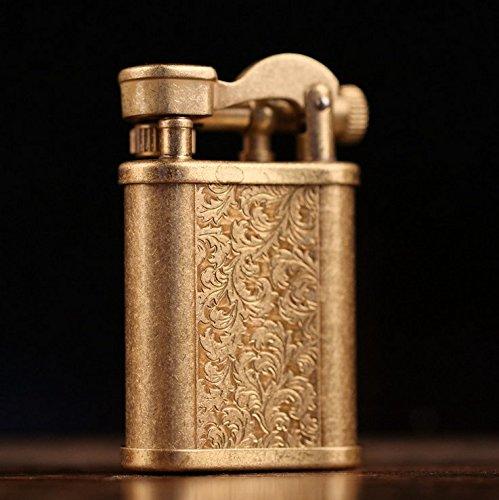 Youfeel Vintage Cigarette Kerosene Lighter Table Handmade Retro Metal Brass Lighter