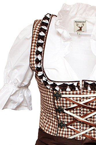 Dirndl Alm619–marron Marron Alpenmärchen Blouse Tablier 46 Trachtenkleid Taille De À 32 Set Multicolore 4wqETU