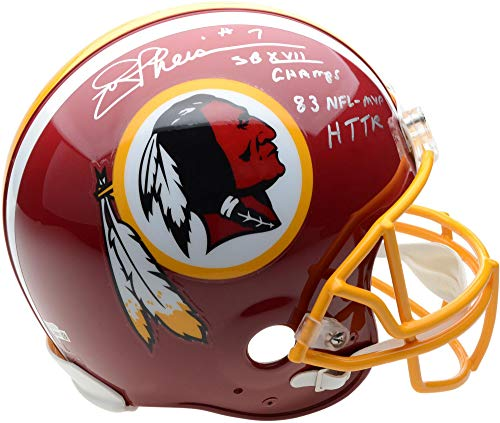 Joe Theismann Washington Redskins Autographed Riddell Authentic Pro-Line Helmet with Multiple Inscriptions - Limited Edition of 7 - Fanatics Authentic Certified ()