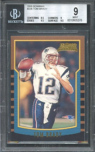 236 Tom (2000 bowman #236 TOM BRADY new england patriots rookie BGS 9 (8.5 9 9.5 9.5) Graded Card)