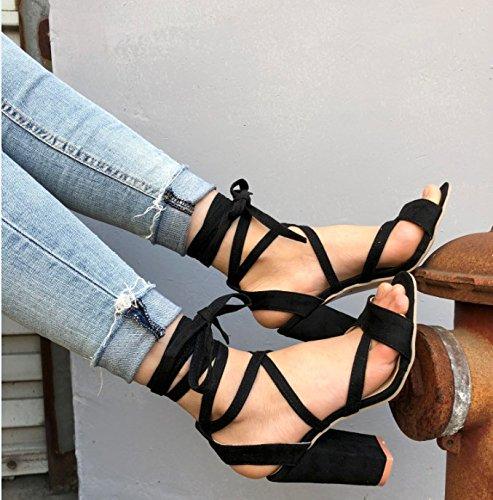 vendaje grandes Donyyyy de y astilleros sandalias de de alta mujer zapatos verano Forty 8wfwa