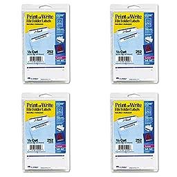Avery Print or Write File Folder Labels for Laser and Inkjet Printers, 1/3 Cut, Dark Blue, Pack of 252 (5200), 4 Packs