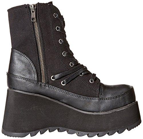 Demonia Womens Scene-50 Ankle Boot Black Vegan Leather-canvas 5iVUjMc1uJ
