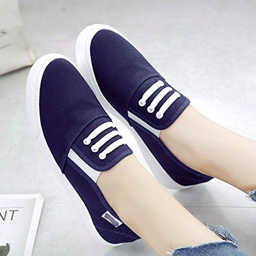 tela Scarpe Blue stile scarpe Color donna casuali basse coreano casuali 37 Espadrillas Scarpe scarpe da Bianca donna da uomo in Size di da YaNanHome FAX0wqx
