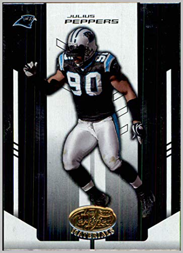 2004 Leaf Certified Materials #17 Julius Peppers CAROLINA PANTHERS TAR - Materials Leaf Certified 2004