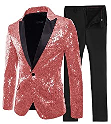 Men's 2 Piece Slim Fit Blazer+Pants