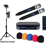 VocoPro TabletOke-2MC Digital Karaoke Mixer With Bluetooth Receiver, Wireless Mics