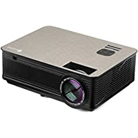 Houzetek Multimedia LED Video Projectors, Portable Home Theater Projector with 1080P HD 4000 Lumens, Support 3D Display, HDMI VGA AV TV Laptop USB Smartphone for Home Office(M5)
