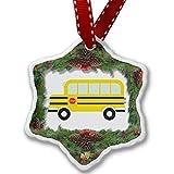 Christmas Ornament Kids Design School Bus - Neonblond