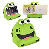 COSY HOLDER – FRANKIE • The fun Tablet & e-Reader holder/stand for kids • Ideal for resting iPad, Samsung Galaxy & Kindle • Padded accessory pouch & carry strap • Doubles up as a cosy travel pillow