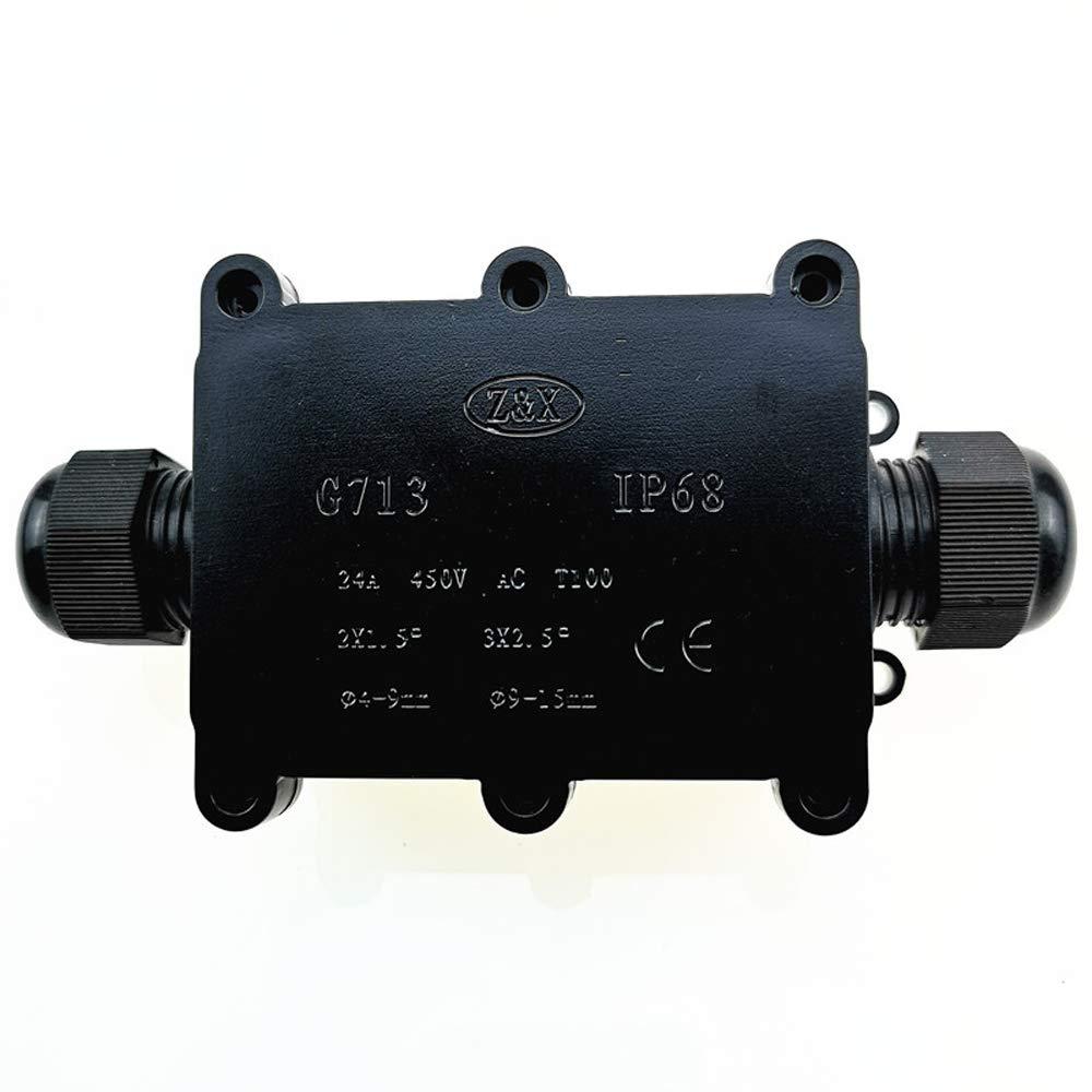 Festnight Connettori per guaine esterne di protezione per cavi interrate impermeabili della scatola di giunzione IP68 4 way