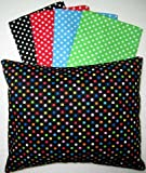 SheetWorld – Baby Pillow Case – Percale Pillow Cases – Primary Polka Dot Collection – Blue – Made In USA, Baby & Kids Zone