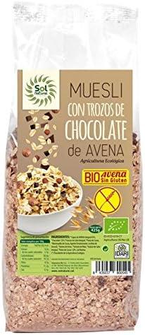 Sol natural - muesli avena chocolate sin gluten: Amazon.es ...