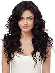 IRRESISTIBLE ME Clip in Hair Extensions Natural Black (#1b) - 100% Human