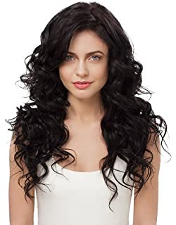 Amazon irresistible me 1 piece clip in hair extensions irresistible me clip in hair extensions natural black color 1b 100 pmusecretfo Choice Image
