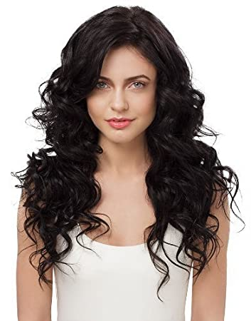 Amazon irresistible me clip in hair extensions natural black irresistible me clip in hair extensions natural black 1b 100 human pmusecretfo Image collections