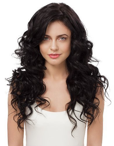 IRRESISTIBLE ME Clip in Hair Extensions Natural Black (#1b) - 100% Human Hair Extensions clip ins - Remy (Remi) Hair – Straight Hair Clips Pieces Full Head Set - Different Weight (g) and Length (Inch)