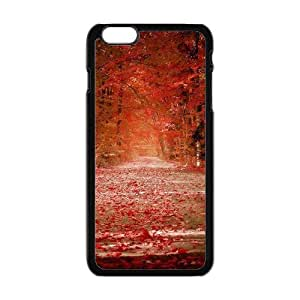 Autunm crimson fallen leaves forest trail Phone Case for iPhone 6 Plus 5.5""