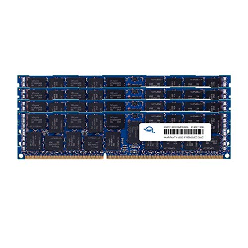 OWC 128GB (4 X 32GB) 1333MHz PC3-10600 DDR3 SDRAM DIMM 240-Pin Memory Upgrade Kit, (OWC1333D3Z3M128) For 2013 Mac ()