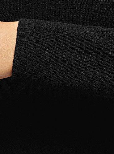 Maglia Nero In Lavorato Oodji Donna Ultra Aderente Abito 2900n nYqp04g