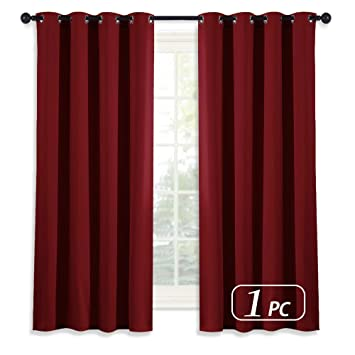 Amazoncom Nicetown Room Darkening Blackout Red Curtain Burgundy