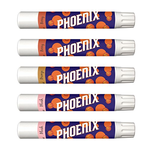Price comparison product image 10% OFF—Phoenix Suns 5-Piece Shimmer Lip Balm Set. 3 Different Shades—Add That Pop of Color: Blush, Bronze, Berry. NBA Gifts for Mother's Day, Easter, Stocking Stuffers, Birthdays.