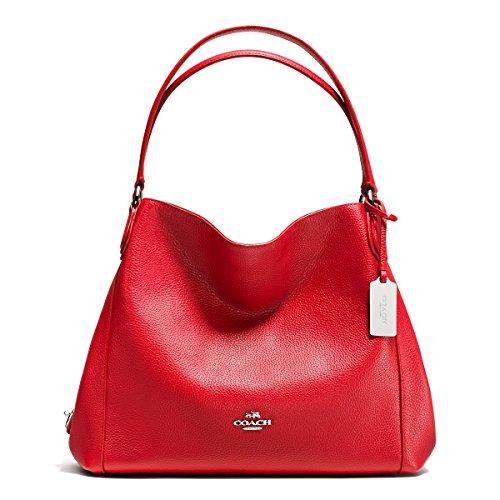 COACH-Womens-Refined-Pebble-Leather-Edie-31-Shoulder-Bag-SVTrue-Red-Shoulder-Bag