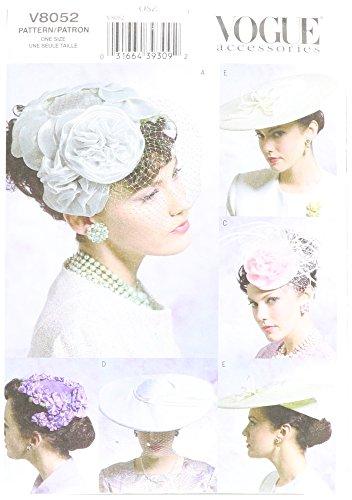 Vogue Patterns V8052 Misses' Vintage Hats, One Size (Vintage Hat Patterns)