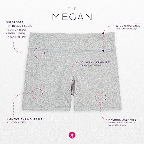 Annelle Megan Womens Bike Short, Gym & Yoga Short, Wide Waistband, Flexible Movement, Black, M by Annelle (Image #2)