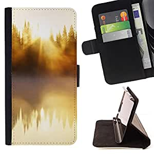 DEVIL CASE - FOR Samsung Galaxy Core Prime - Nature Beautiful Forrest Green 48 - Style PU Leather Case Wallet Flip Stand Flap Closure Cover