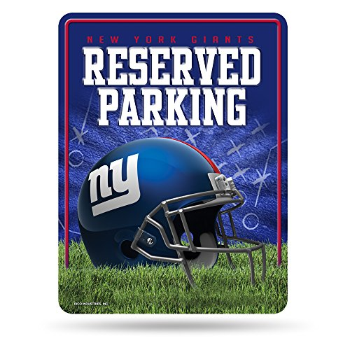 - NFL New York Giants 8-Inch by 11-Inch Metal Parking Sign Décor
