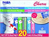 #2: INABA Churu Tuna Lickable Creamy Puree Cat Treats Variety 20 Tubes