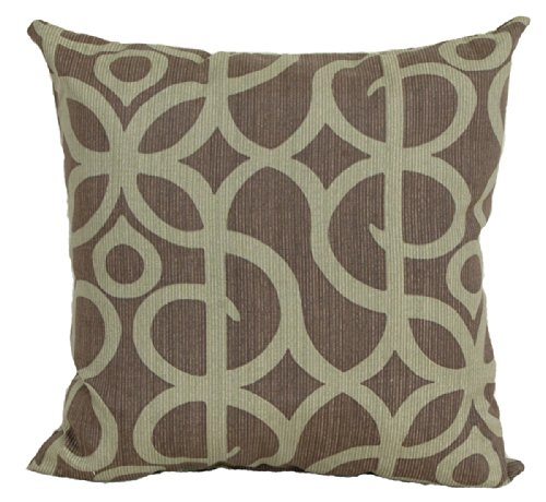 Codson Park 80055 Square Outdoor Pillow with Knife Edge Finish, Manley Kiwi, 16-Inch