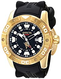 Invicta Men's 'Sea Base' Quartz Stainless Steel and Silicone Casual Watch, Color:Black (Model: 20179)