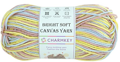 Charmkey Knitting Yarn Ball Bright Soft Canvas Yarn 4 Medium Self Striping Lustrous Acrylic 4 Ply, 1 Skein, 3.53 Ounce (Autumn Strips) (Aran Knitting Patterns For Babies And Toddlers)