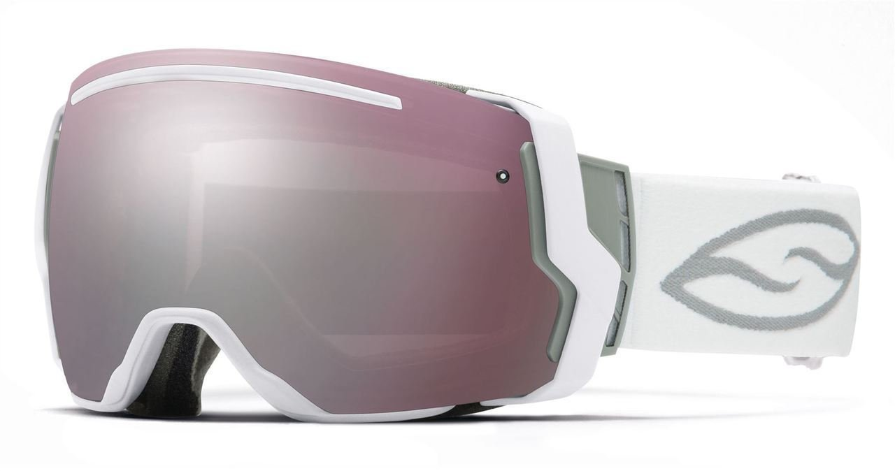 Smith Optics I/O7 Vaporator Series Snocross Snowmobile Goggles Eyewear - White/Ignitor/Red Sensor / Medium