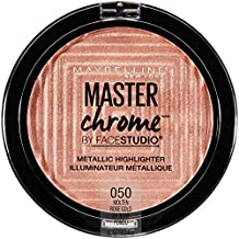 Maybelline New York Facestudio Master Chrome Metallic Highlighter Makeup, Molten Rose Gold, 0.24 oz.
