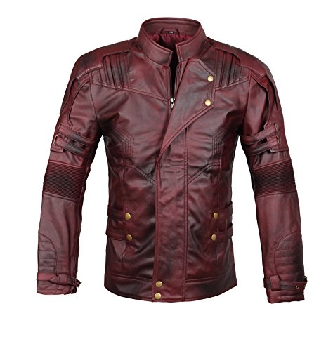 BlingSoul Star Lord Leather Jacket - Chris Pratt Guardians of The Galaxy Costume (Star Lord GOTG Jacket, S)