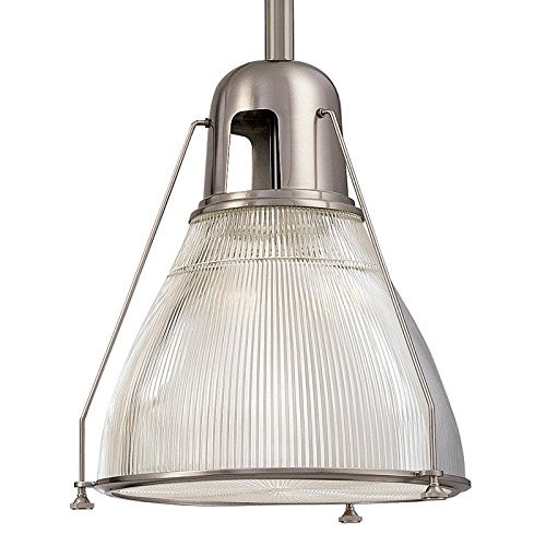 Haverhill Pendant Lighting - Hudson Valley Lighting Haverhill 1-Light Pendant - Satin Nickel Finish with Clear Prismatic Glass Shade by Hudson Valley Lighting