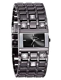 Marciano Women's | Gunmetal Rhinestone Accented Self Adjustable Watch | FH0030