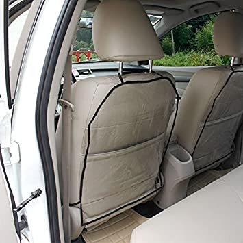 Stupendous Amazon Com Anti Kick Seat Protectors Clear Car Seat Mats Inzonedesignstudio Interior Chair Design Inzonedesignstudiocom