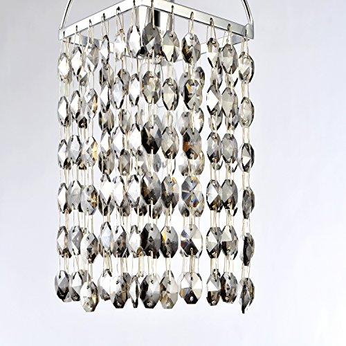 LightInTheBox Mini Alfa Strass Crystal Pendant One Light, Modern Home Ceiling Light Fixture Flush Mount, Pendant Light Chandeliers Lighting, Voltage=110-120V;Home Color=Grey
