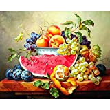 20x26 Inch Rhinestone Cross-stitch Fruits Grapes Watermelon and Orange DIY Diamond Painting Kits Arts, Crafts & Sewing 5D Diamond Painting