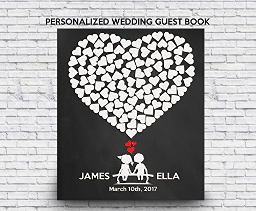 Wedding guest book - Wedding Tree Guest Book - Signature Tree Guestbook - Housewarming Gift - Unique Wedding Gift - Wedding Date - Heart shape guest book - 1st anniversary gifts - baby shower gifts