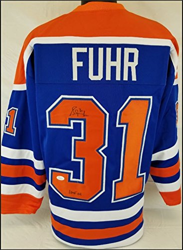 d22ab2729 Grant Fuhr Signed Edmonton Oilers Jersey at Amazon s Sports ...